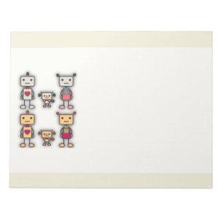Robot Boy, Robot Girl, Robot Dog Note Pad