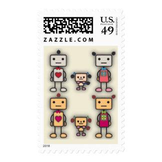 Robot Boy, Robot Girl, Robot Dog Postage