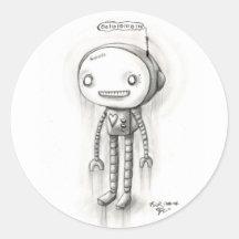 Robot Boy Sticker