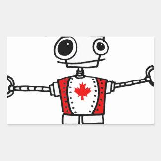 Robot canadiense rectangular altavoces