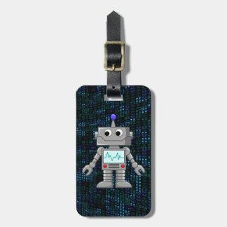 robot cartoon bag tag