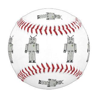Robot cartoon baseball