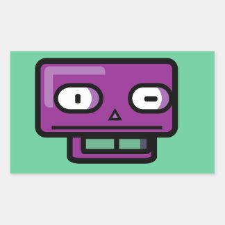 Robot Cartoon Face Sticker