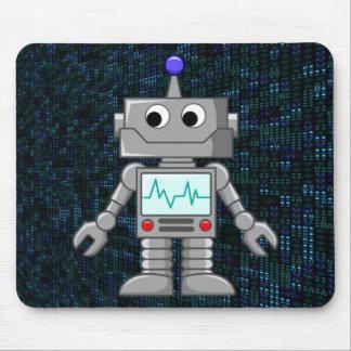 robot cartoon mouse pad