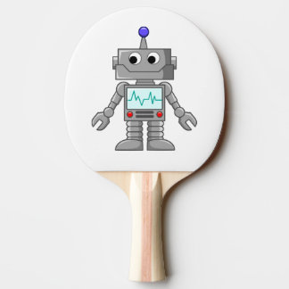 Robot cartoon Ping-Pong paddle