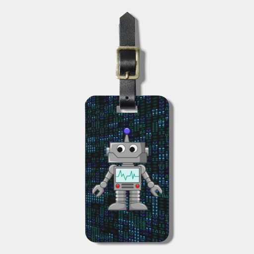 robot cartoon tag for luggage
