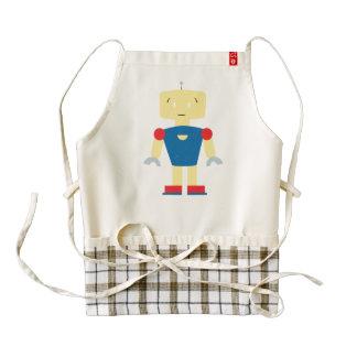 Robot cartoon zazzle HEART apron