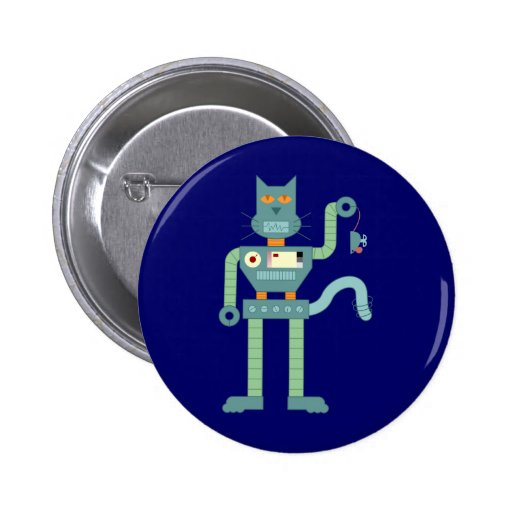 Robot Cat & Wind Up Mouse Button