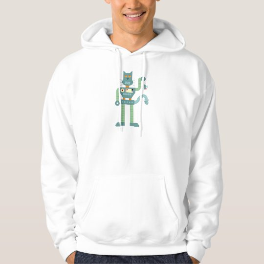 Robot Cat & Wind Up Mouse Hoodie