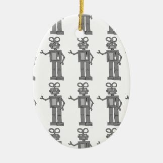 robot ceramic ornament