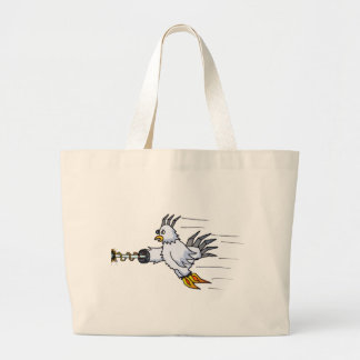 Robot Chicken Large Tote Bag