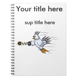 Robot Chicken Spiral Notebook
