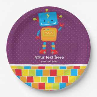 Robot * choose background color paper plate