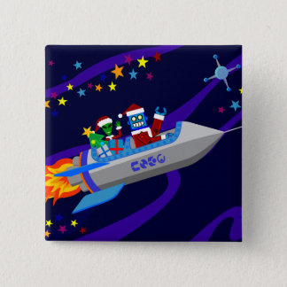 Robot Christmas Rocket Button