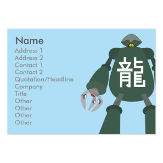 Robot - Chubby Large Business Card