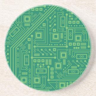 Robot Circuit Board Drink Coaster