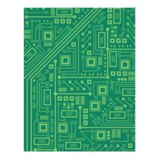 Robot Circuit Board Letterhead