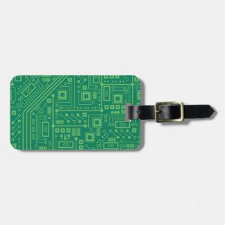 Robot Circuit Board Luggage Tag