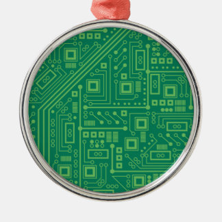 Robot Circuit Board Metal Ornament