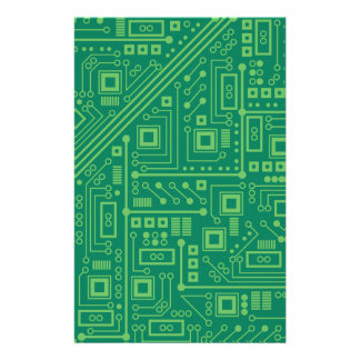 Robot Circuit Board Personalized Stationery