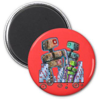 Robot City 2 Inch Round Magnet