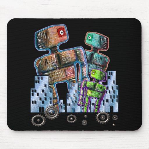 Robot City Mousepads