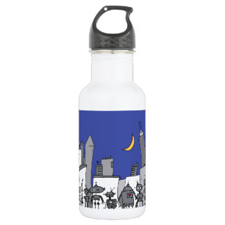 Robot City Stainless Steel Water Bottle