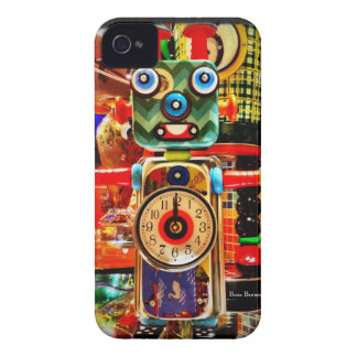 Robot Clock Recycled Art iPhone 4 Case