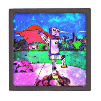 ¡Robot cómico del super héroe del estilo del Caja De Recuerdo De Calidad