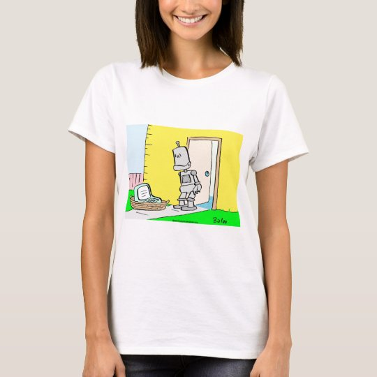 robot computer doorstep foundling T-Shirt