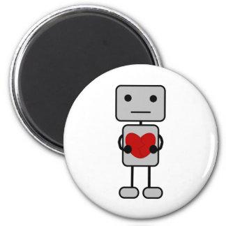 Robot con el corazón imán redondo 5 cm