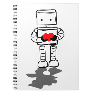 Robot con el corazón notebook