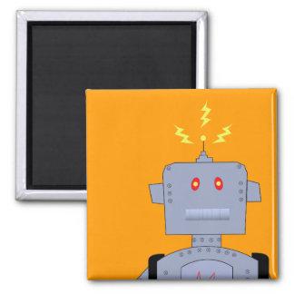 robot confuso imán cuadrado