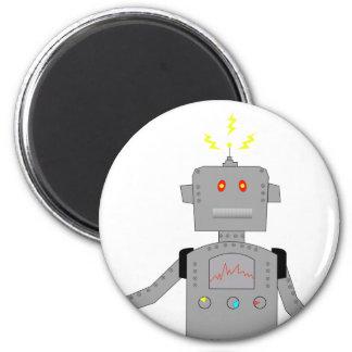 robot confuso imán redondo 5 cm
