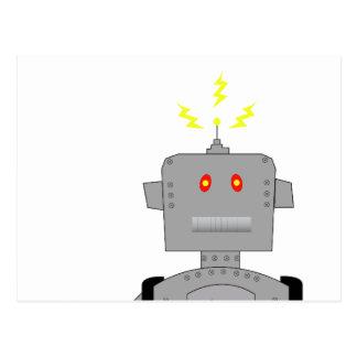 robot confuso tarjetas postales
