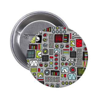 Robot Controls 3000 Pinback Button