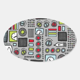 Robot Controls 3000 Oval Sticker