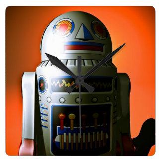 Robot cosechado retro 02 del juguete reloj