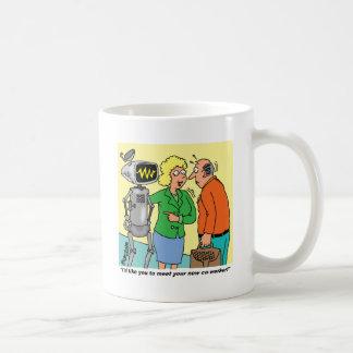 Robot Coworker Cartoon Coffee Mug