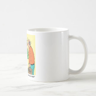 Robot Coworker Cartoon Mugs