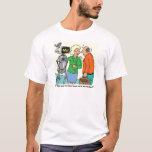 Robot Coworker Cartoon T-Shirt