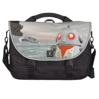 Robot Crash at Sea Laptop Commuter Bag