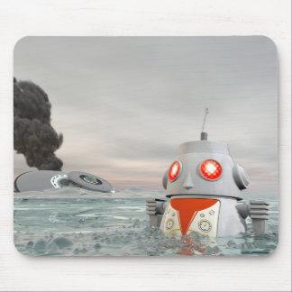 Robot Crash at Sea Mousepad