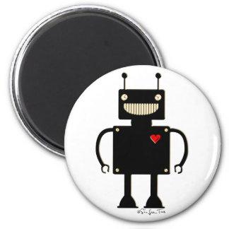 Robot cuadrado feliz 1 iman para frigorífico