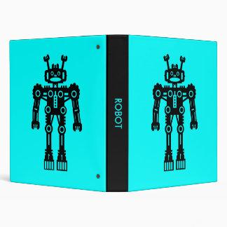 Robot - Cyan Blue Binder