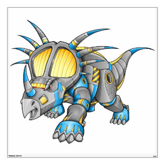 Robot Cyborg Triceratops Dinosaur Wall Decal