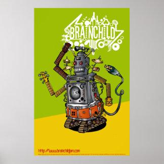 Robot de 263 creaciones póster