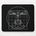Robot de da Vinci Vitruvian Tapetes De Raton