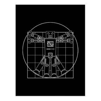Robot de da Vinci Vitruvian Tarjeta Postal