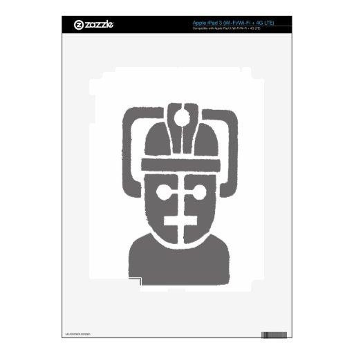 Robot de espacio iPad 3 pegatinas skins